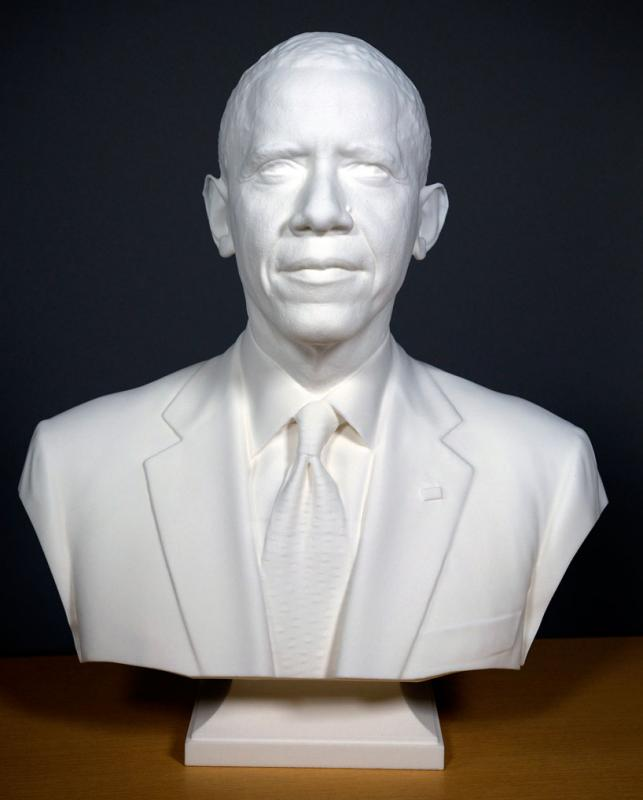 Obama is first president to be 3D printed for national portrait gallery bust