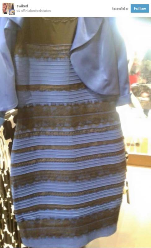 Il mistero del vestito che cambia colore.
